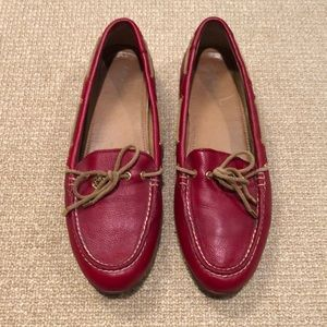 Sperry Drivers Loafer/Moccasins Red 9